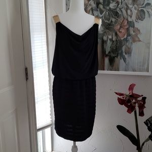 MSK Black party dress with gold straps!
